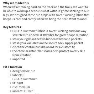 lululemon athletica Pants - Lululemon Run: Inspire Crop ll